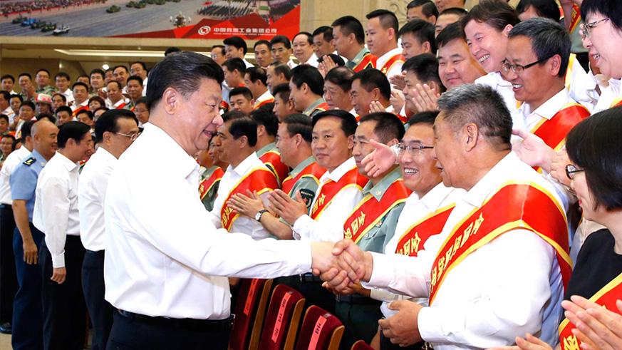 7月29日,党和国家领导人习近平、李克强等在北京会见全国双拥模范城(县)命名暨双拥模范单位和个人表彰大会代表。