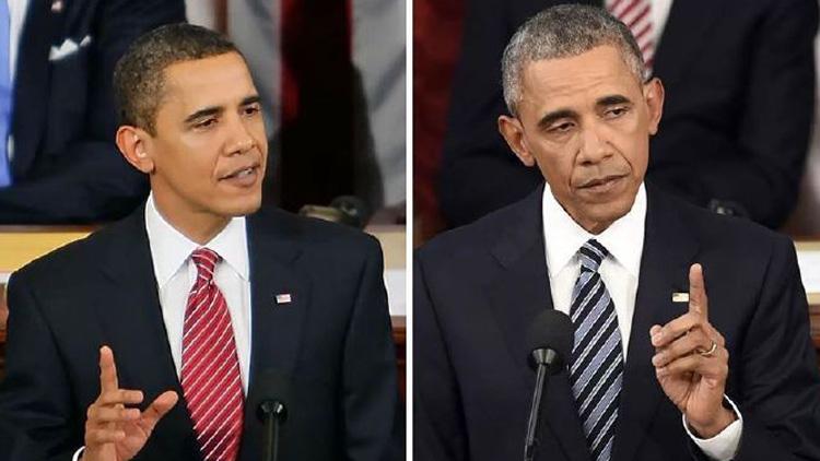 感觉身体被掏空:九位美国总统任期对比照