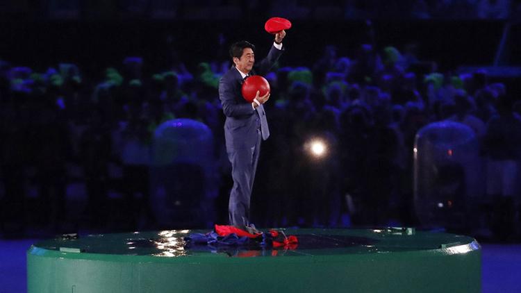 里约瞬间|也是拼了!东京奥运表演 安倍化身超级马里奥现身