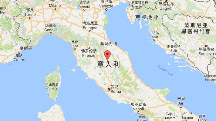 意大利中部城市佩鲁贾附近发生6.1级地震