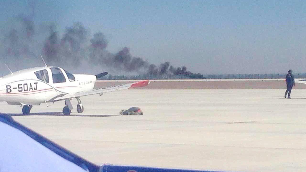 视频丨国际通用航空大会一飞机表演时坠机 飞行员确认遇难