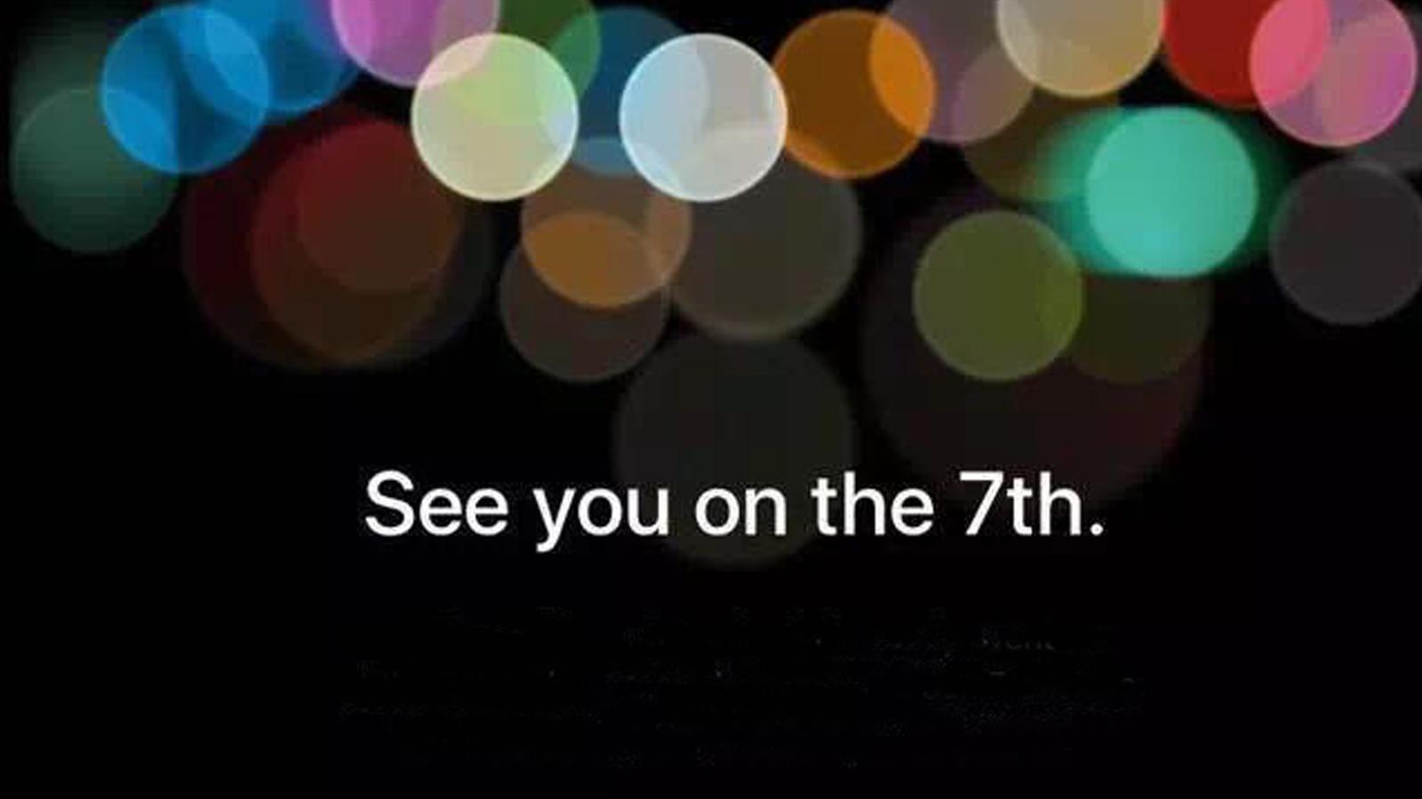 iPhone7要来了?苹果公司宣布9月7日召开发布会