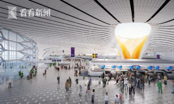 北京新机场:主航站楼地下结构跃出地面