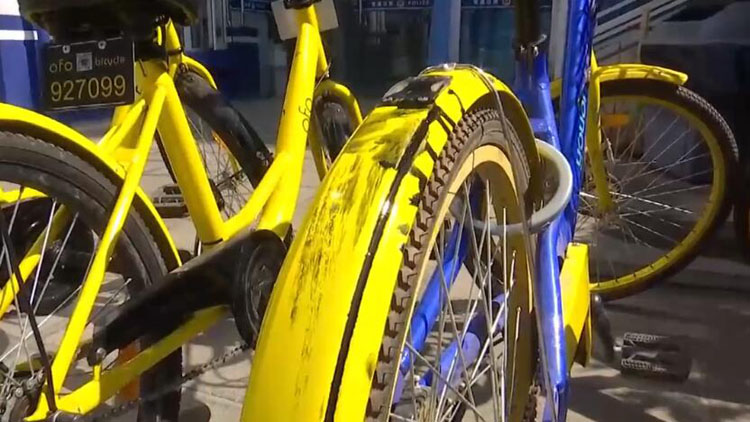 视频|2小孩捣鬼破坏共享单车 家中竟私藏6辆