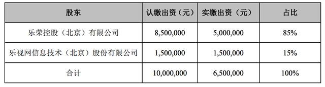 乐视电子商务股权结构
