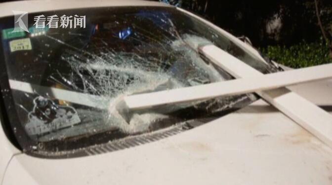 视频 玩具来了!轿车猛烈撞护栏死神被司机钉栏杆视频北美图片