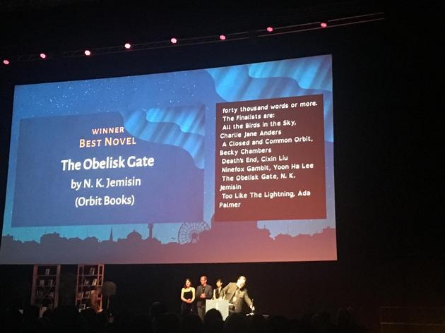 第75届雨果奖在赫尔辛基正式揭晓 图中为颁奖现场