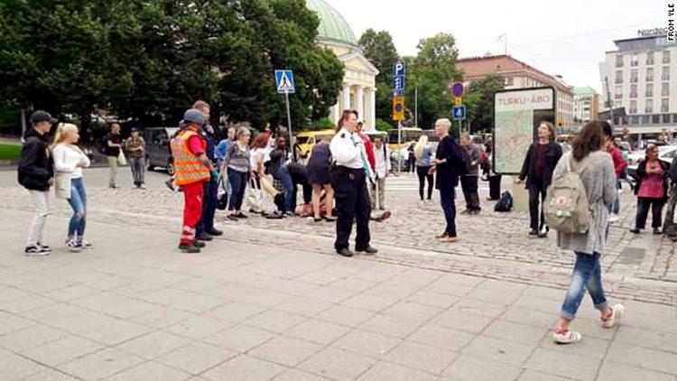 芬兰图尔库持刀行凶事件已致多人死伤 嫌犯被捕