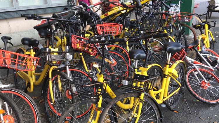 上海暂停共享单车新增投放 企业加大清运力度