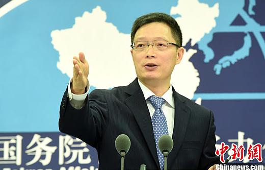 国务院台湾事务办公室发言人安峰山。中新社记者 张勤 摄