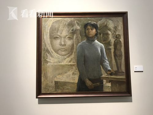 邱瑞敏为吴慧明画的题为《雕塑者》
