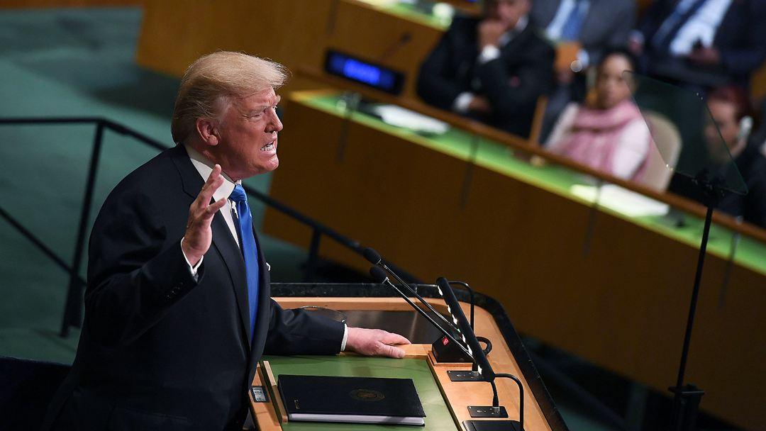 """特朗普联合国演讲称""""彻底摧毁朝鲜"""" 中方回应"""
