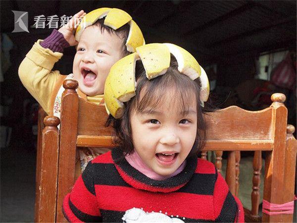 台湾小朋友的柚子帽
