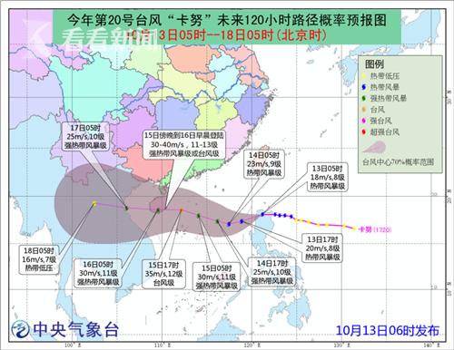 台风路径预报图