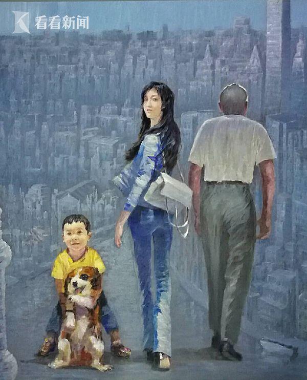 布面油画:城市•回望 创作2017年10月