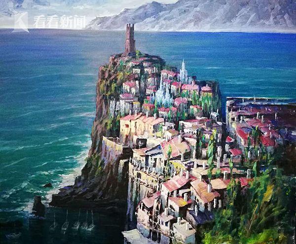 布面油画:港湾 创作2017年9月