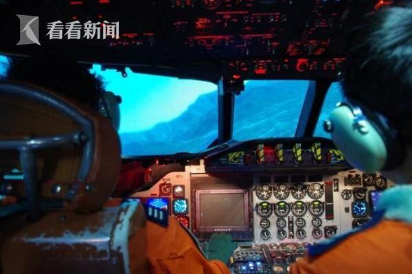 图为P-3C飞行模拟器内景
