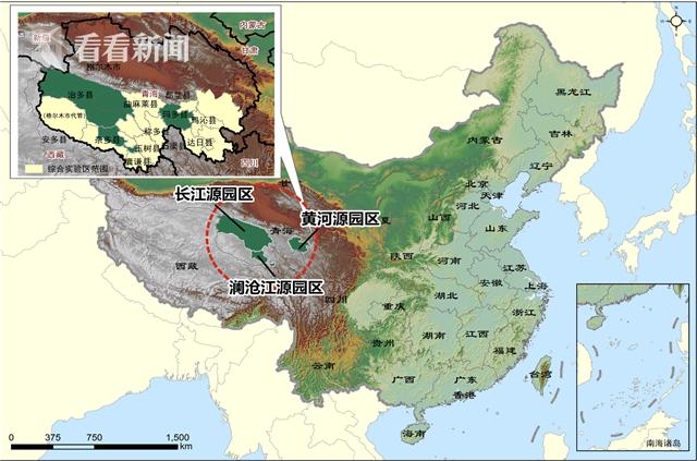 三江源国家公园的行政位置