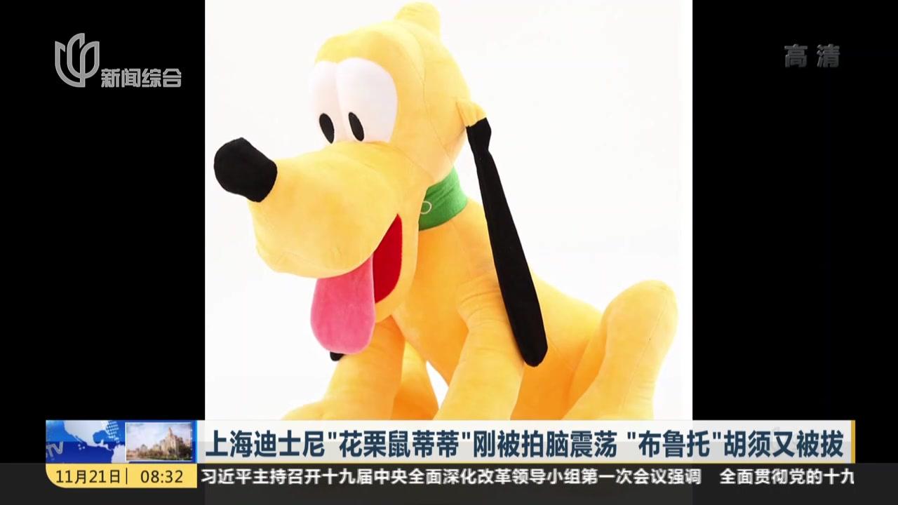 """上海迪士尼""""花栗鼠蒂蒂""""刚被拍脑震荡  """"布鲁托""""胡须又被拔"""