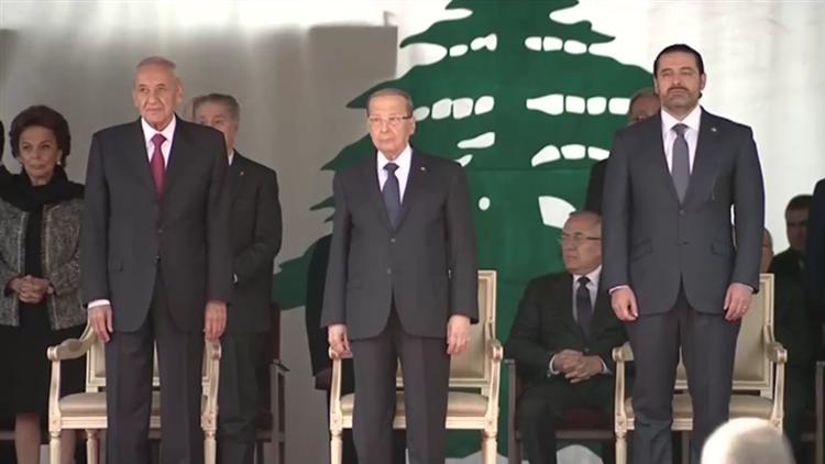 黎巴嫩举行独立日阅兵仪式 哈里里如约现身