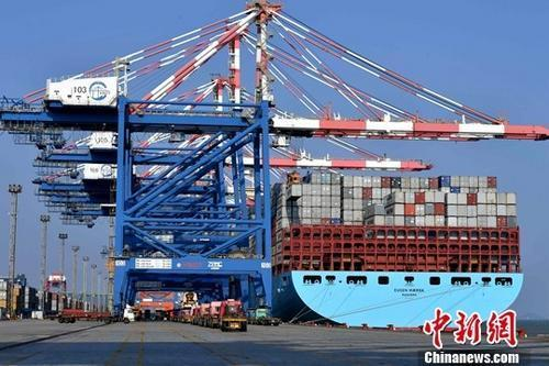 图为繁忙的厦门集装箱码头。(资料图) 中新社记者 王东明 摄