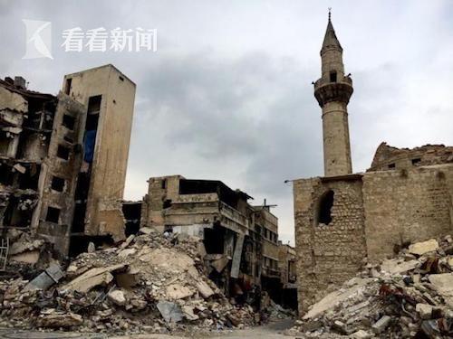 经过六年内战,阿勒颇古堡已经成了一片废墟