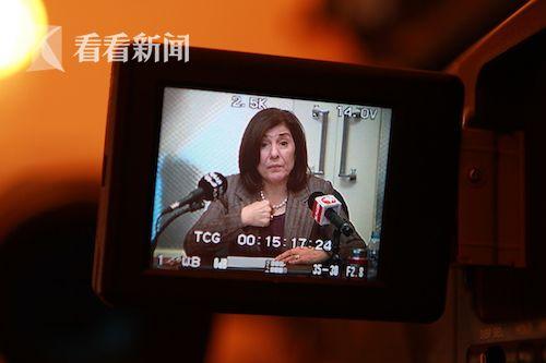 布赛娜·沙阿班接受东方卫视采访