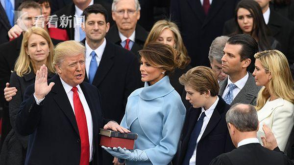 特朗普宣誓就任美国第45任总统
