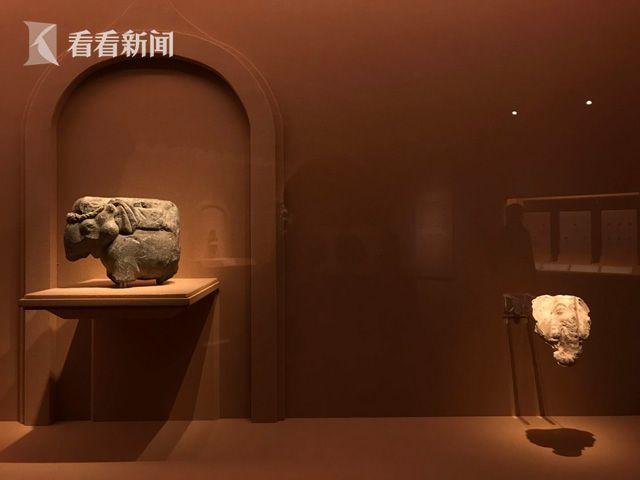 大象建筑构件和象头壁饰