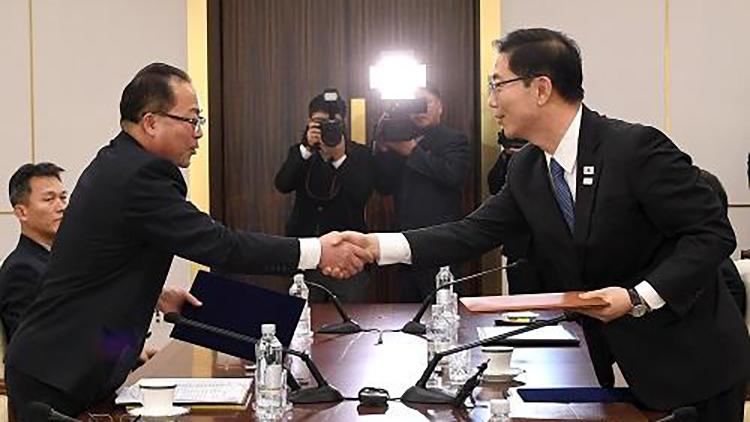 朝鲜访问团将继续扩大 韩朝滑雪选手共同训练