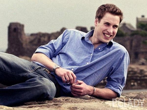 威廉王子18岁,拍摄于2001