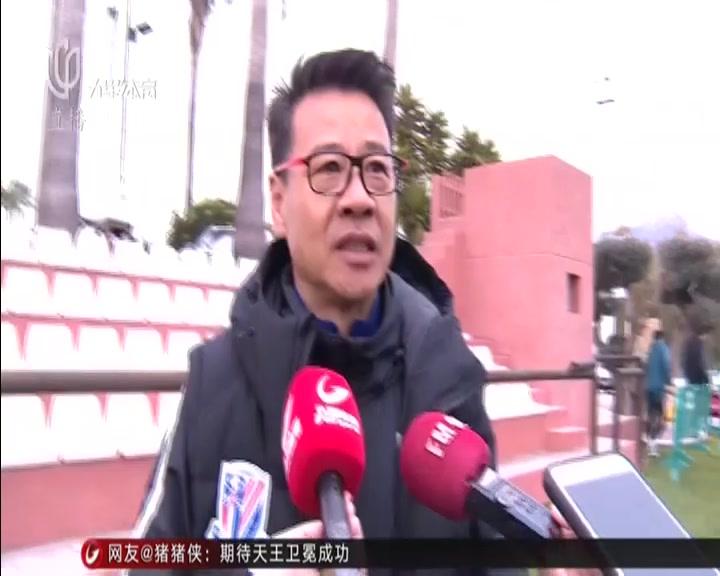 """申花冬训渐入佳境  俱乐部董事长到场""""督训"""""""
