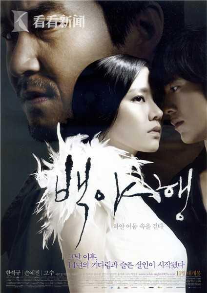 2009年韩国电影《白夜行》海报