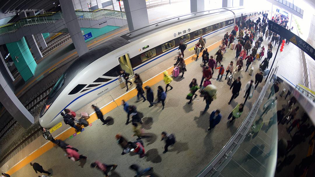 返程客流迅速升温 全国铁路今发送旅客950万人次