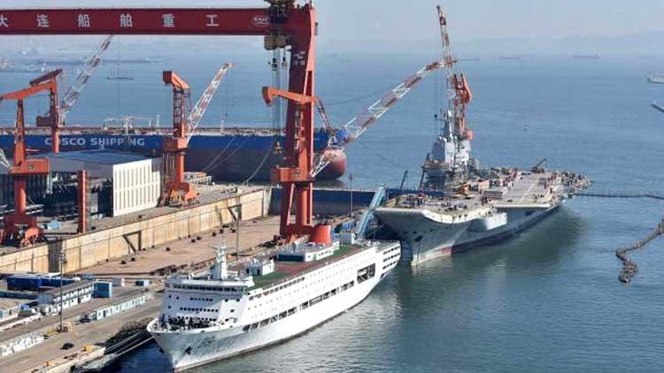 脚手架已全部拆除 首艘国产航母海试在即?