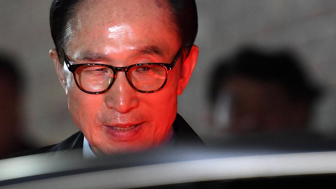 韩前总统李明博深夜遭捕 临走前在社交媒体发文