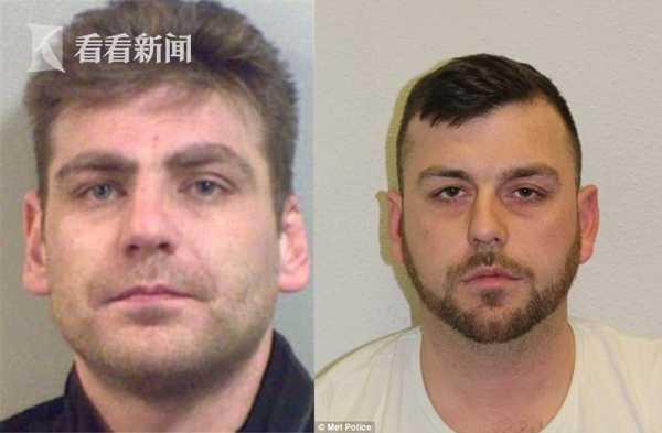 死者劫匪理查德(左)与另一名同伙