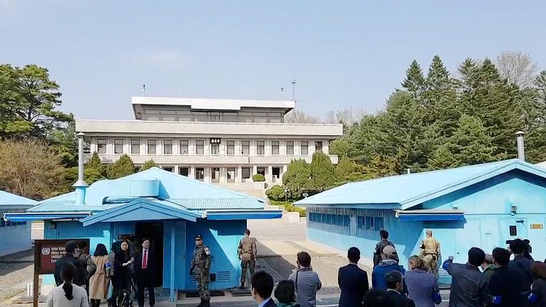 Knews探访板门店:一线之隔见证韩朝春意盎然