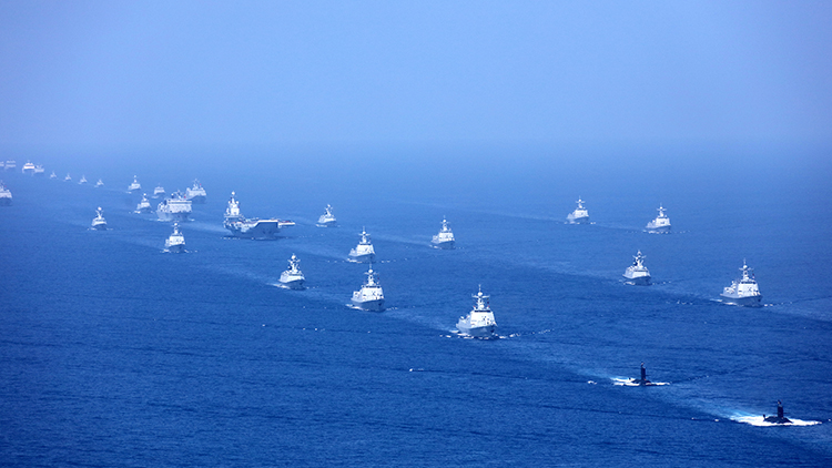 国防部回应中澳军舰南海相遇:中方操作合法合规