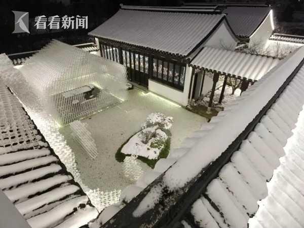 """雪中的""""虚山水""""庭院"""