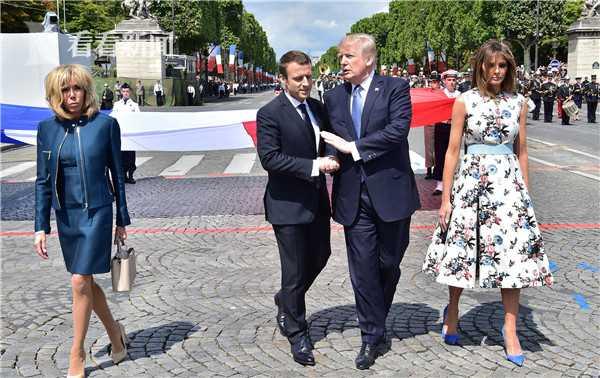 马克龙在法国国庆日邀请特朗普观看阅兵大典
