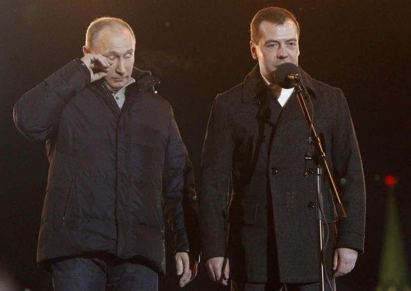 2012年俄罗斯大选,获得6成选票的普京激动落泪