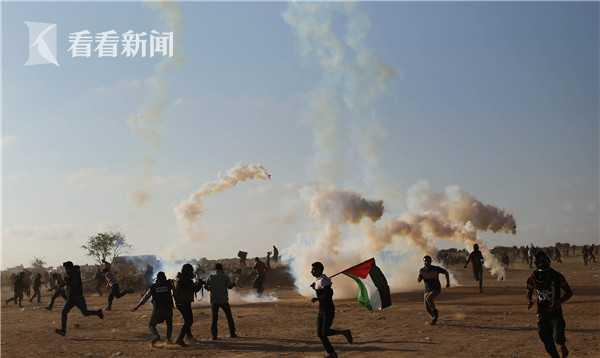 加沙地带边境爆发严重抗议