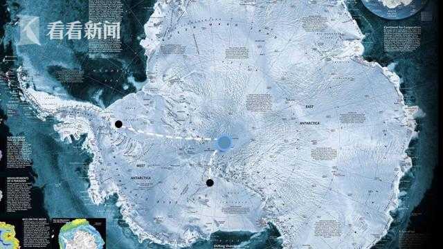Leandro准备穿越南极的路线图