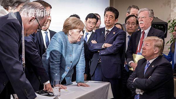 """特朗普G7峰会遭6国""""围攻"""""""