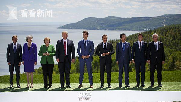"G7峰会开幕领导人拍摄""全家福"""