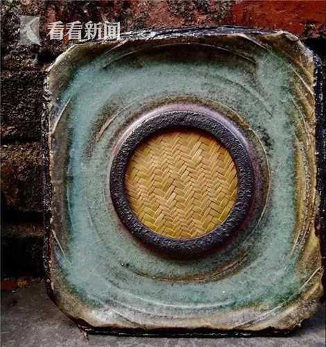 竹编 壶承(云海釉)