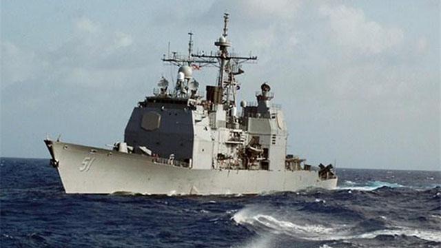 """美军航母指挥舰""""提康德罗加""""级巡洋舰"""