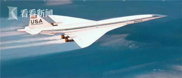 上世纪60年代的美国超音速运输机概念图