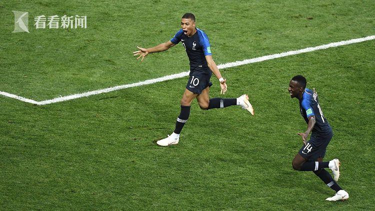 姆巴佩成为了历史上第二年轻的世界杯决赛进球球员